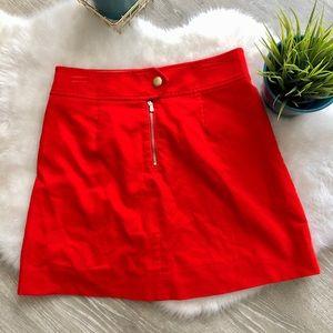 JCREW Corduroy Mini Skirt - Fire Engine Red